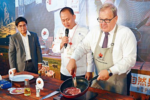 农业部长访华 亲自下厨推销加国食品