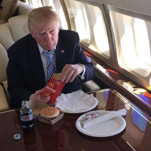 川普竞选期间的菜单曝光 真的是天赋异禀啊