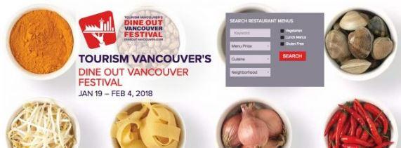 2018年 Dine Out Vancouver 餐厅名单出炉