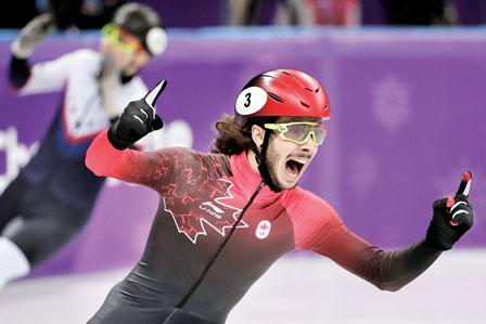 短道速滑男夺金女摘铜 加拿大奖牌榜第四