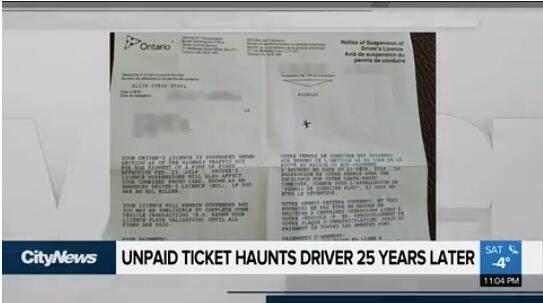 优发国际女子被吊销驾照 竟是因为一张25年前的罚单