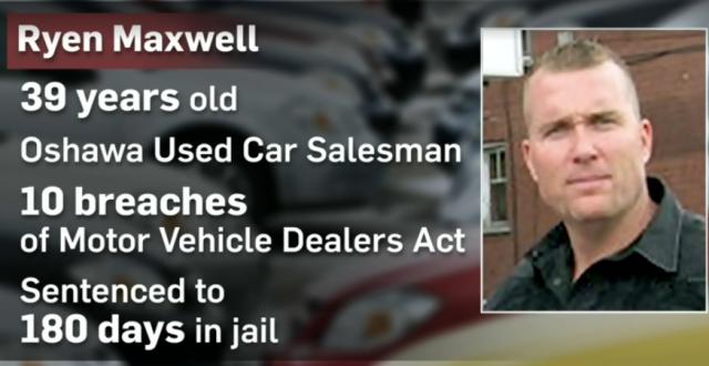 多伦多车行销售员这样卖车 被判入狱180天