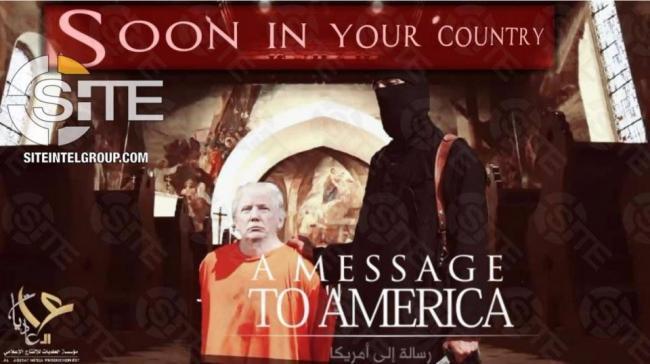 可怕! ISIS再发新海报, 这次枪口指向了川普...