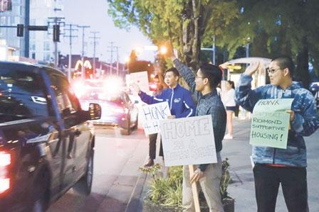 20多名学生府大楼外通宵扎营 支持列志文组合屋