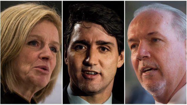 trudeau-notley-horgan-premier-ministre-canada-alberta-colombie-britannique-conflit-oleoduc-e1523309160753.jpg