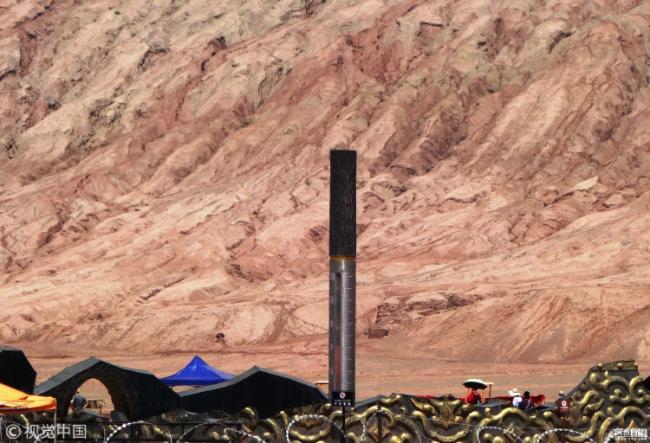 新疆火焰山景区气温飙升 地表高达72摄氏度