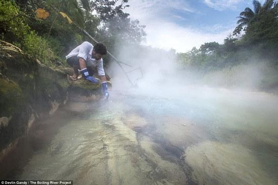 亚马逊丛林有一条神秘沸腾河 活物落入会被夺命
