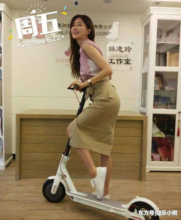 林志玲骑滑板大胆翘臀 那双腿看得男人怀疑人生