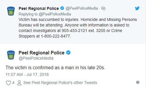 布兰普顿发生枪击案 一人死亡