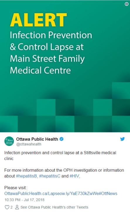 警告:这家诊所4600名患者可能被感染肝炎或艾滋