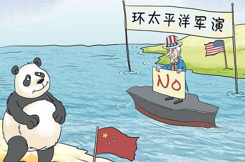 美国演练击沉战舰 与中国作战一次预演