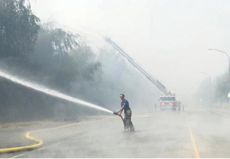 列治文山火之后 雾霾臭氧袭击大温