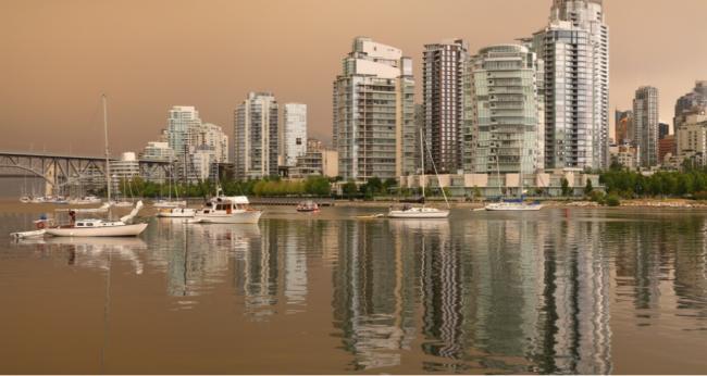温哥华的烟雾破了历史记录 一口空气等于七支烟