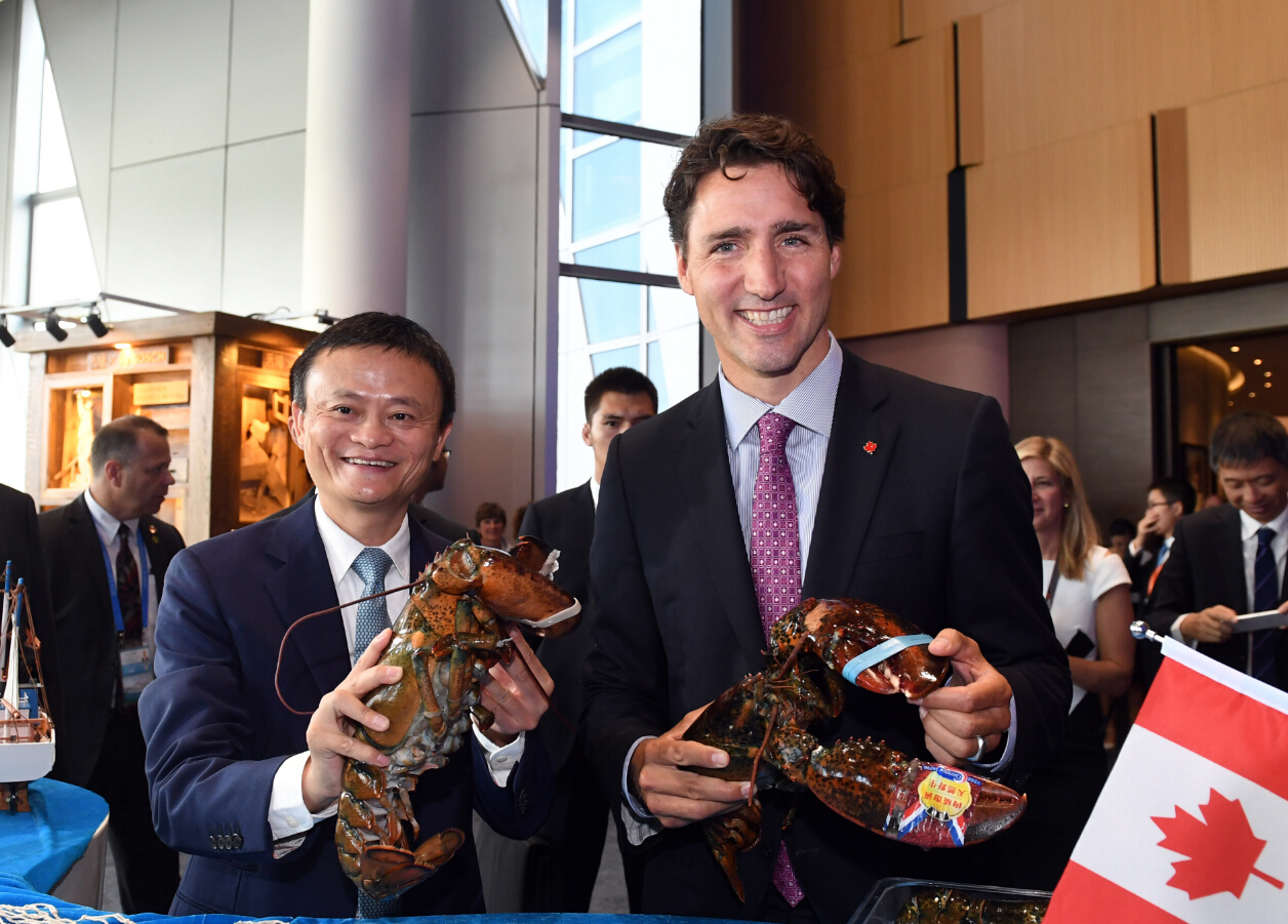 Image result for jack ma and canada pm