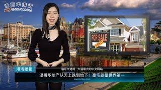 温哥华地产从天上跌到地下!豪宅跌幅世界第一
