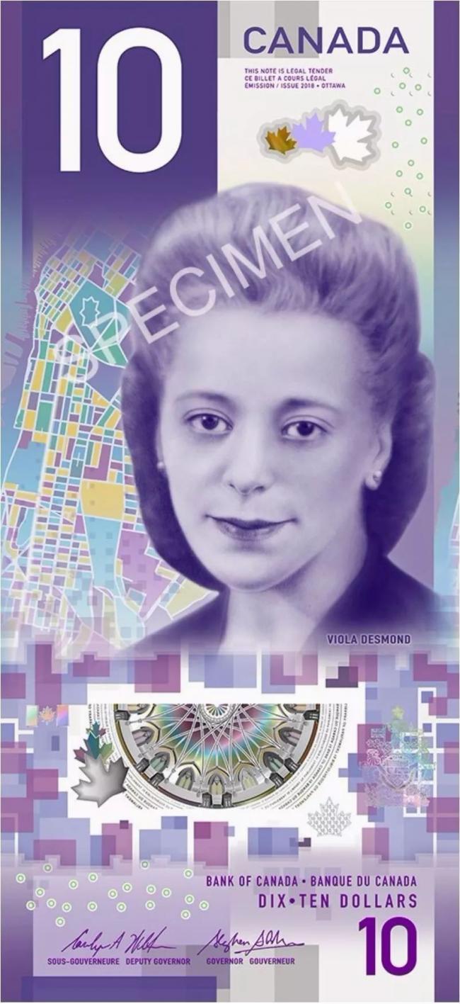 10元竖版新钞: 这不是钱,是加拿大的价值观