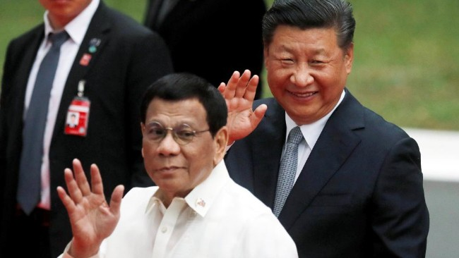 中菲领导人 一个想独霸南海一个想要美元