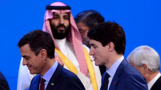 G20峰会加拿大总理特鲁多与沙特王储形同陌路
