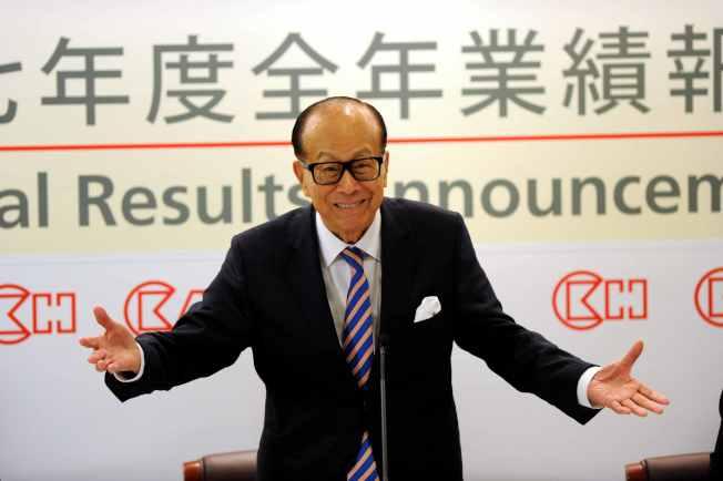 李嘉诚再售中国资产!5年赚1.44亿美元