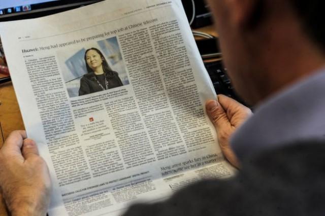 中国批美加拘孟晚舟 英媒:北京在习特会前就知