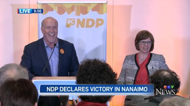 刚刚!NDP赢得Nanaimo议席 贺谨可以睡个安稳觉