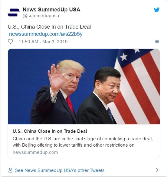 美中将达成重大协议 习本月内赴美签字