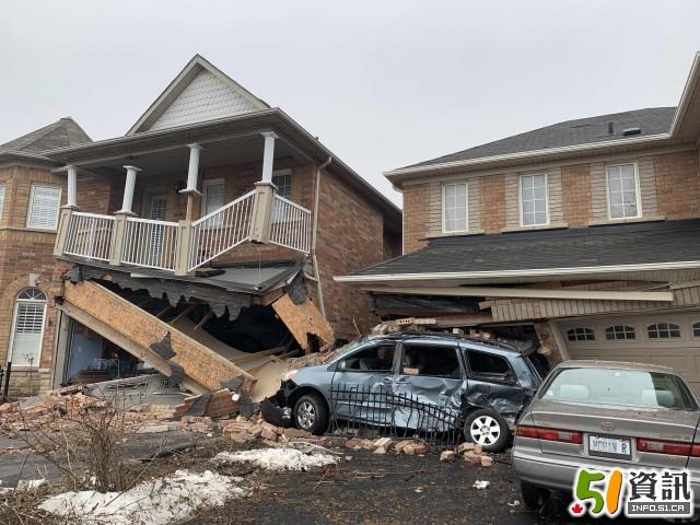 这个位置的房子慎买 巴士撞民宅 瞬间变危房