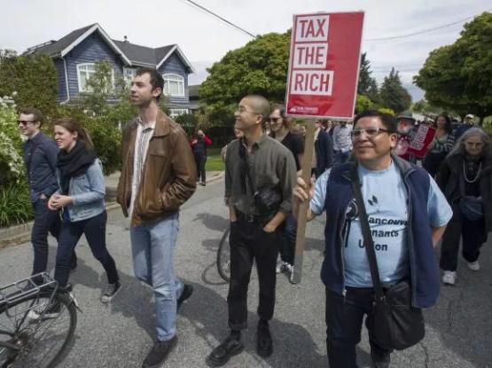 温西豪宅区的游行  大温不再是地产主力军