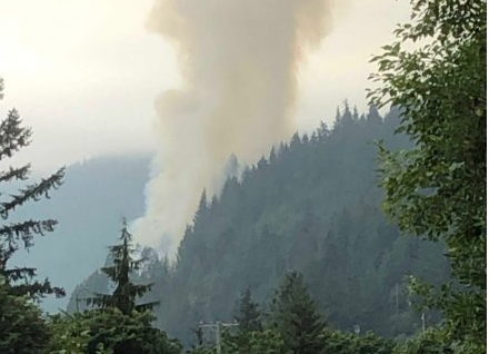 海天公路附近有山火发生 北行方向封闭
