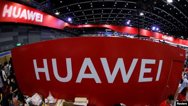 华为在泰国曼谷举行的国际电子商务展览会上的展台。(2019年5月31日)