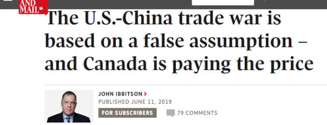 中美贸易战加拿大背锅,但是美国人完全错了