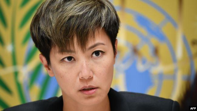 香港歌星、民主活动人士何韵诗8号在联合国人权理事会发言说两度被中国代表打断。