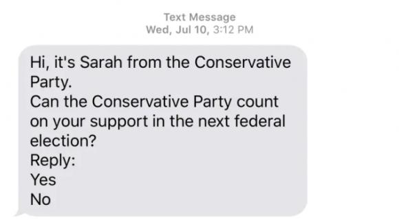 你收到了萨拉的短信?如何杜绝竞选机器人信息?
