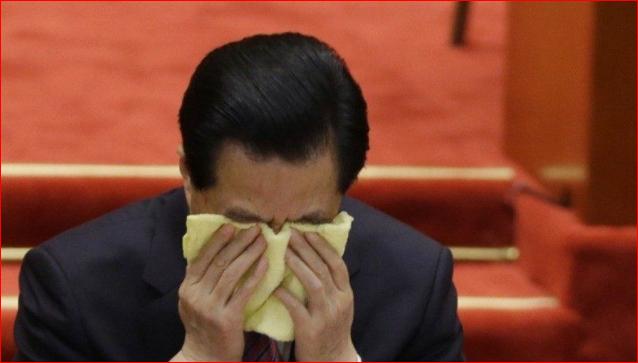胡锦涛悲愤难抑 流着泪对习交待4个字