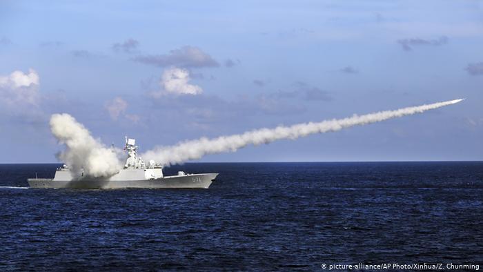 China Südchinesisches Meer - Manöver (picture-alliance/AP Photo/Xinhua/Z. Chunming)