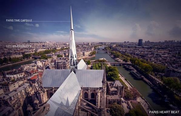 巴黎圣母院重建方案 �A人�O��@冠�