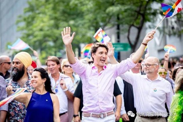 蒙特利尔同性恋大游行:特鲁多又去亲自捧场