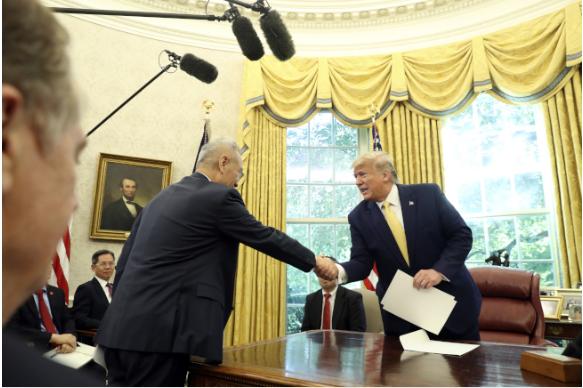 川普宣布 美中已达成第一阶段贸易协议