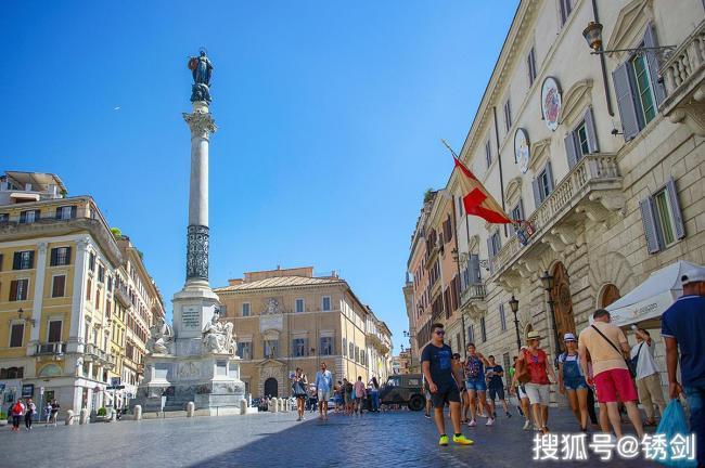 罗马地标、禁坐的西班牙台阶
