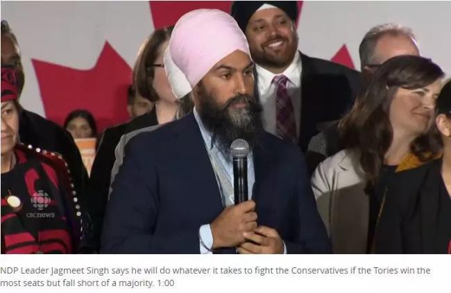 NDP支持激增!结盟自由党阻止保守党上台…