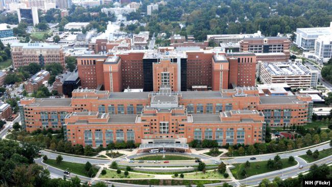 资料照: 位于首都华盛顿附近马里兰州贝塞斯达的美国国家卫生院临床医学中心(10号楼)。